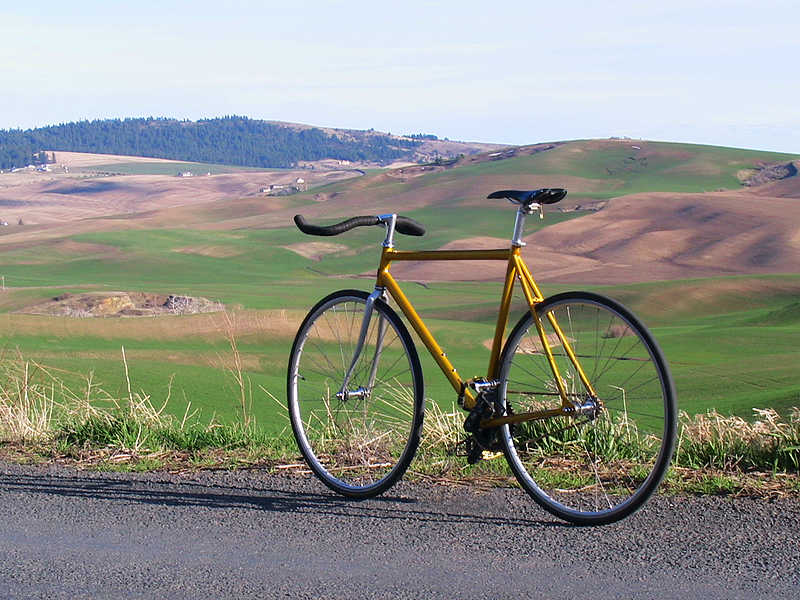 Modifikasi Sepeda Fixie KuningModifikasi Sepeda Fixie
