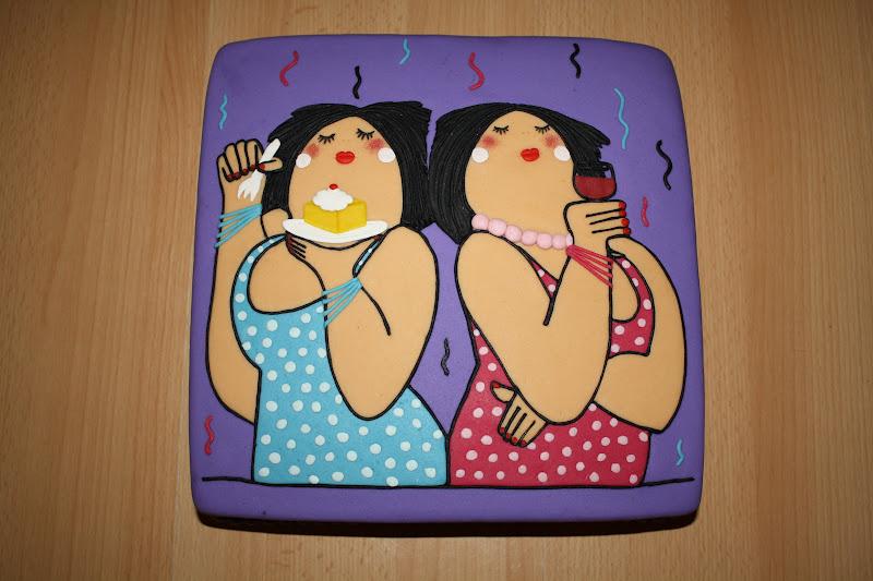 taart dame Karin's Taarten: Gezellige dikke dames taart taart dame