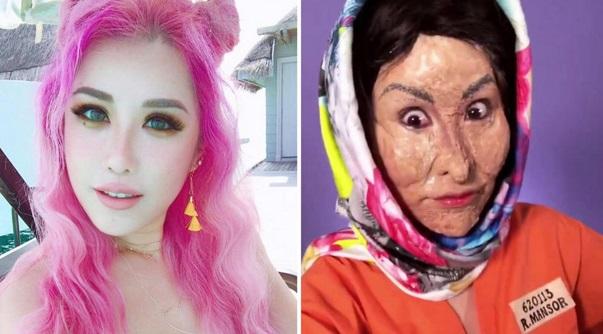 Influencer Dikatakan Dari Singapore Ini Diugut Baling Asid Dekat Muka Sebab Tiru Muka Rosmah Untuk Halloween!