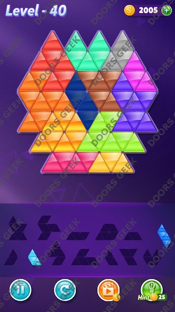 Block! Triangle Puzzle Grandmaster Level 40 Solution, Cheats, Walkthrough for Android, iPhone, iPad and iPod