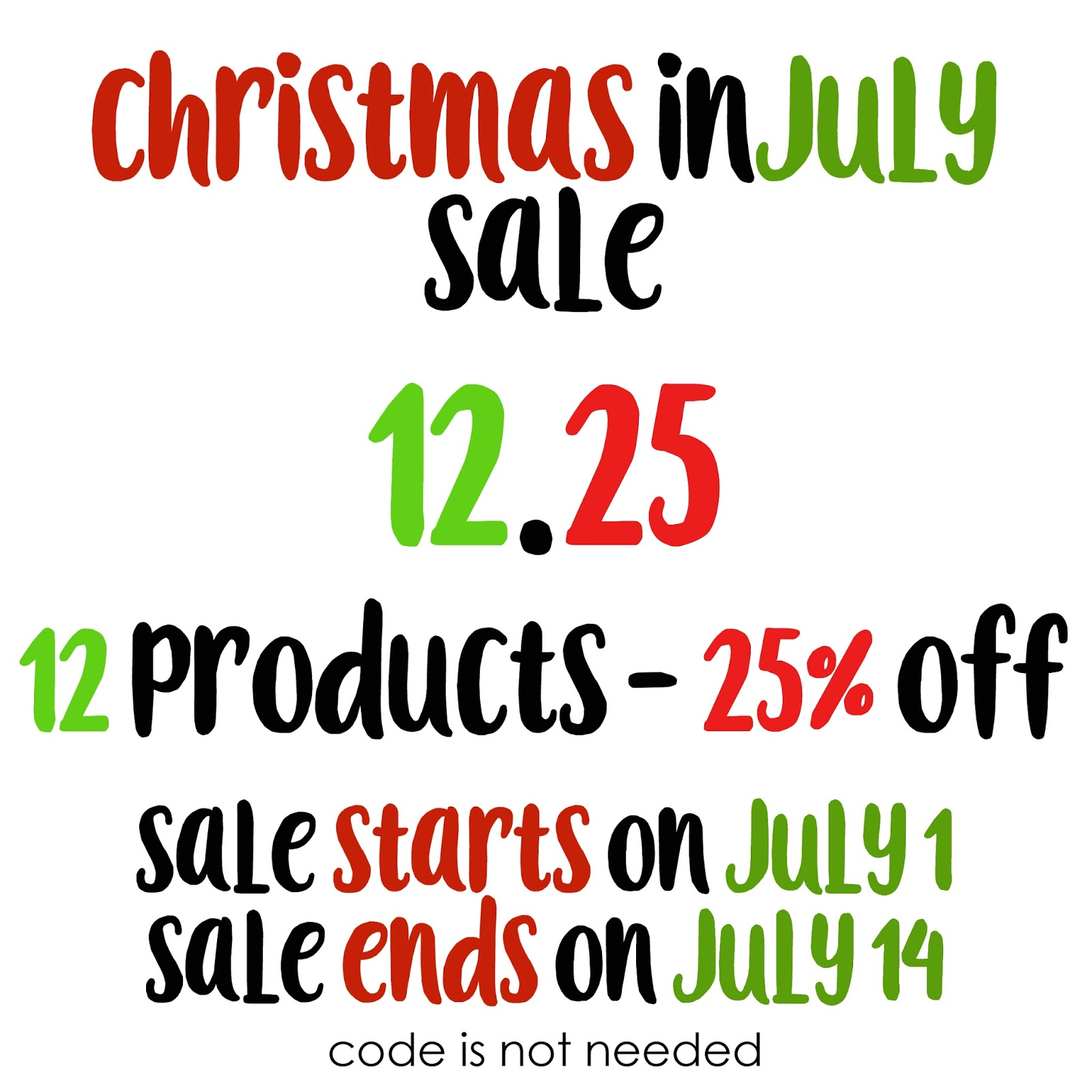 Paper smooches christmas in july sale for Christmas sale items