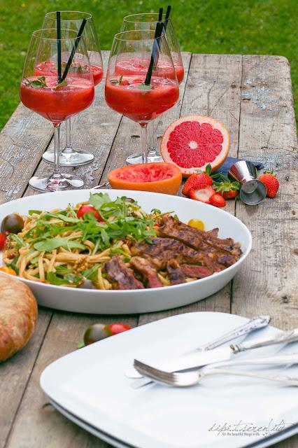 Erdbeer Tee Paloma - Erdbeer Grapefruit Tee Cocktail