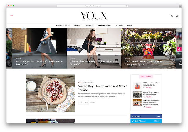 The Voux Wordpress Teması