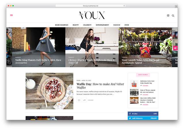 The Voux Wordpress Teması