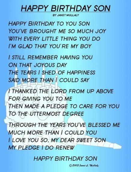Very Special Son Happy 21st Birthday Son From Mom Mendijonas Blogspot Com