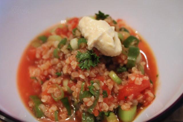 Taboulé mit Hummus