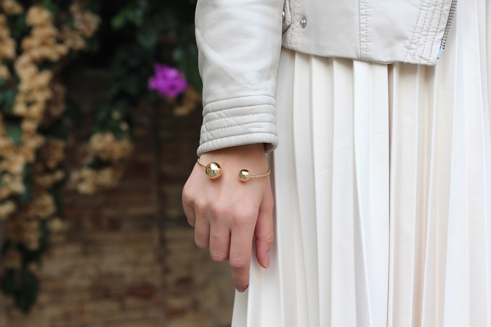bijou brigitte golden gold bracelet pearl