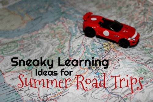 Sneaky Learning Ideas for Summer Road Trips- 1980s style car ride fun SANS screens