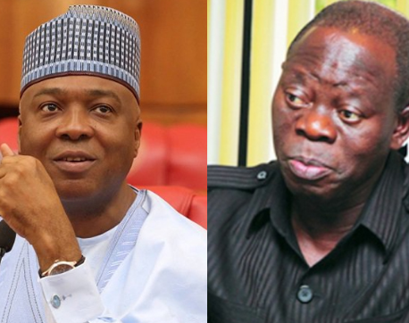 YOU ARE JUST BEHAVING LIKE A RAIN BEATEN CHICKEN, ONE MILLION OF YOU CANNOT REMOVE ME FROM OFFICE''  SARAKI FIRES BACK AT OSHIOMOLE