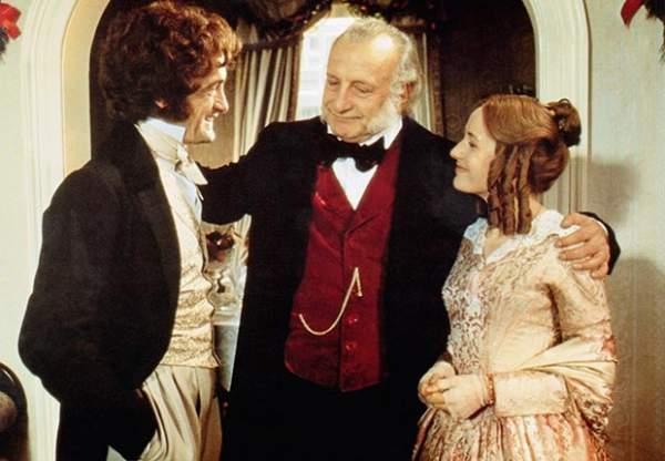 Roger Rees, George C. Scott, Caroline Langrishe in A Christmas Carol (1984)