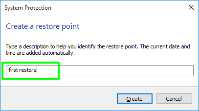 initial restore point