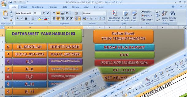 Aplikasi Pengolahan Nilai Kelas 6 SD-MI dengan Microsoft Excel