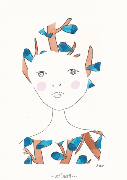 Chloé, girl illustration
