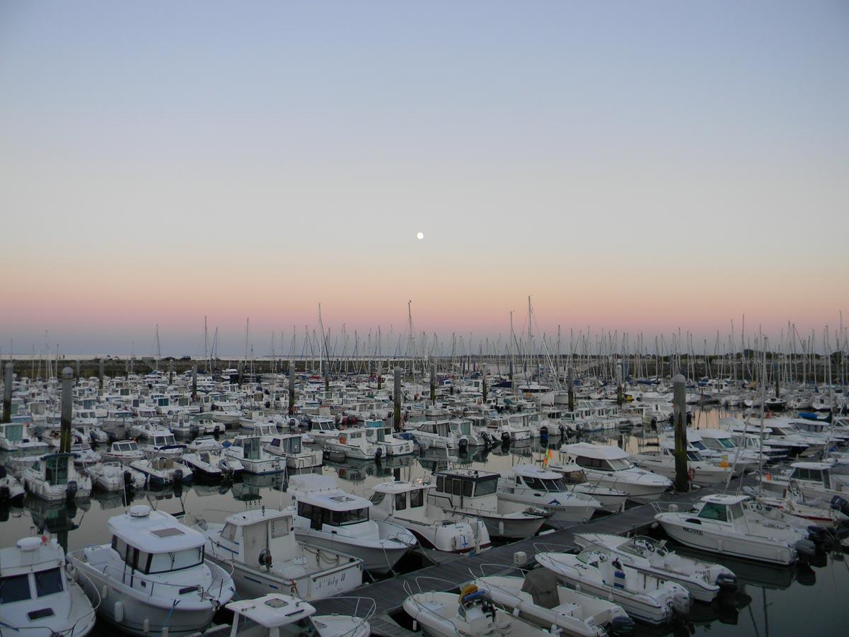 Coucher de soleil sur le port de Saint-Denis d'Oléron
