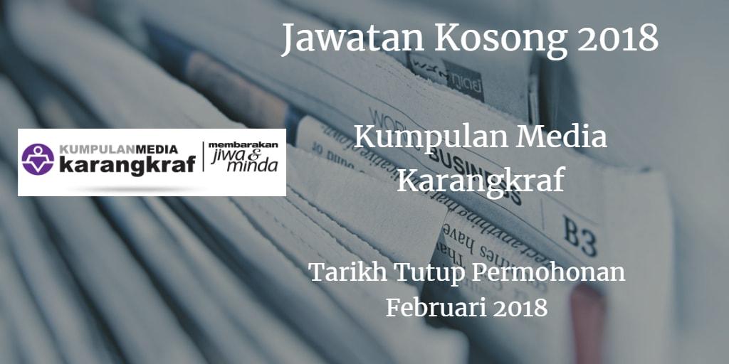 Jawatan Kosong Kumpulan Media Karangkraf Februari 2018