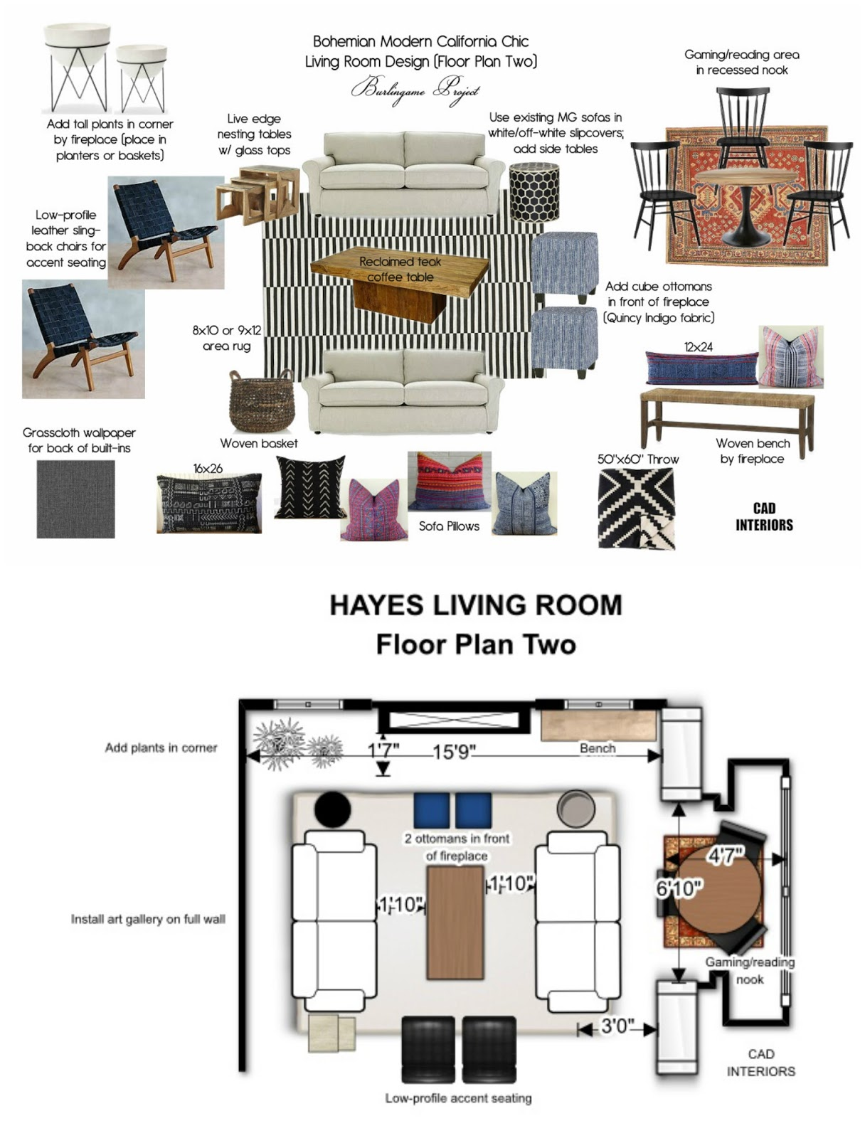 iinterior design decorating california boho chic transitional room design floor plan