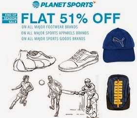 Flat 51% Off on Puma, Fila, Nike Sports Shoes, Clothing & Accessories @ Planetsports