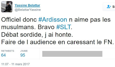 Yassine Belattar exprime par un tweet son opinion sur l'émission Salut Les Terriens