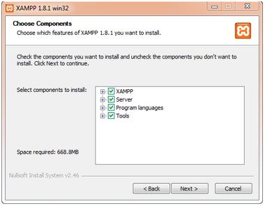 Langkah mudah install xampp di windows