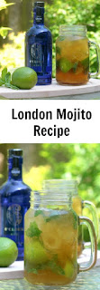 London Mojito recipe, using gin and Pimm's. A perfect summer cocktail