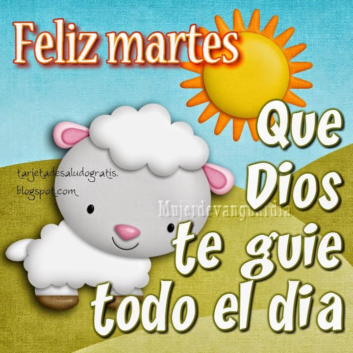 Tarjeta de Feliz martes: Que Dios te guíe todo el día