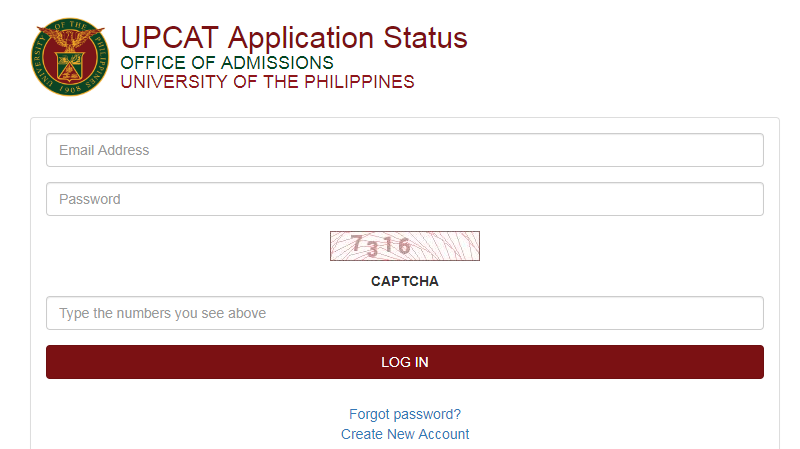 The new UPCAT results portal.