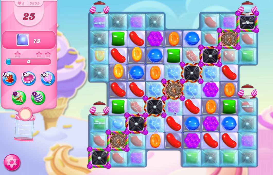 Candy Crush Saga level 5855