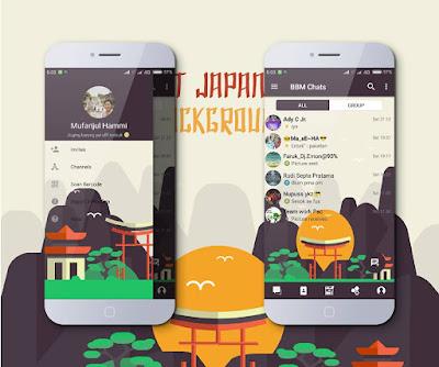 BBM Mod v3.3.1.21 Mi-Japan Landmark APK