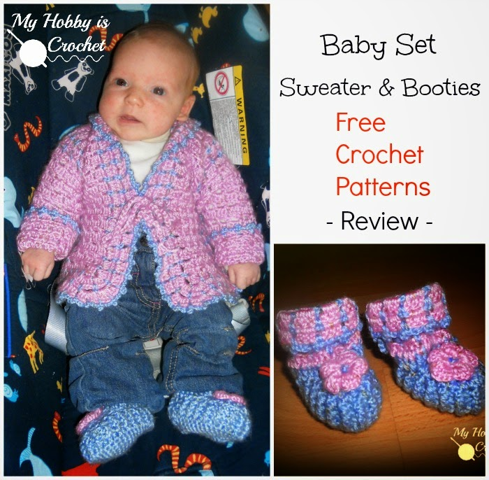 Baby Sweater and Booties | FREE Crochet Patterns Review