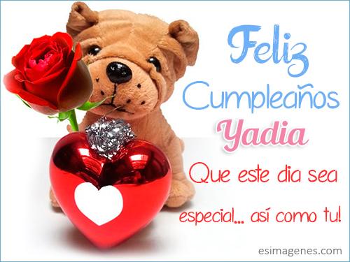 Feliz cumpleaños Yadia