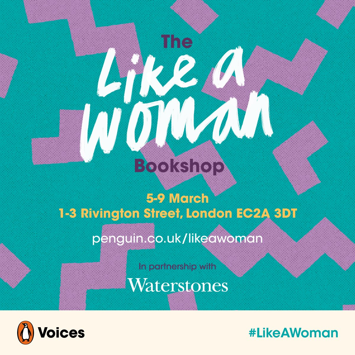 The Like A Woman Bookshop Banner