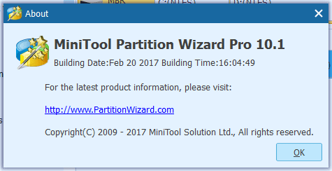 MiniTool Partition Wizard 10.1 PRO Crack