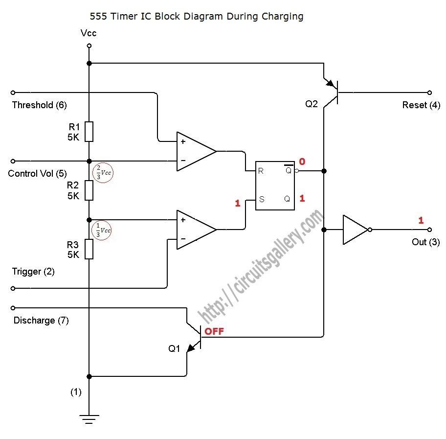 Pwm Led Dimmer Brightness Control By 555 Timer With Video Ne555 Circuit Projects Internal During Charging