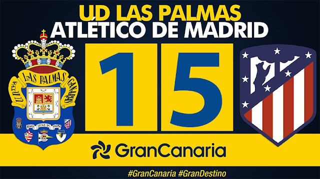 Marcador final 1-5 UD Las Palmas - At. de Madrid