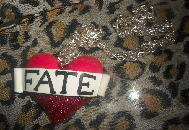 Fate Tattoo Love Heart Necklace