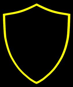Logo Polos Perisai Warna Hitam Garis Kuning