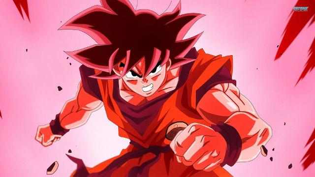 Dragon Ball Z Goku Tout Rouge - Fond d'écran en Full HD