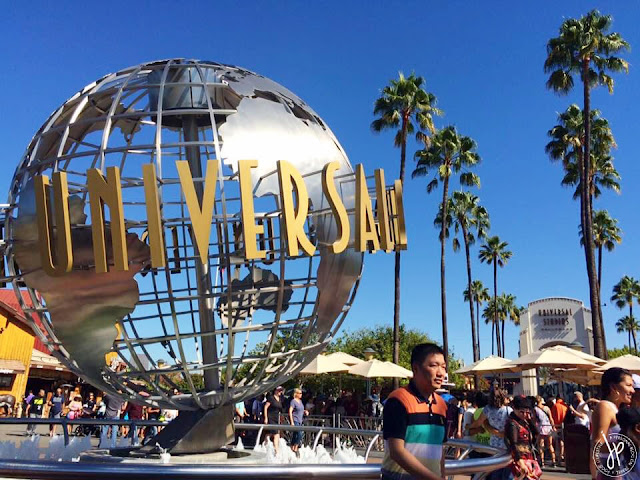 metal globe, fountain, hollywood
