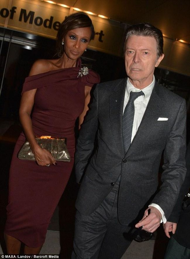 Iman and her late hubby David Bowie