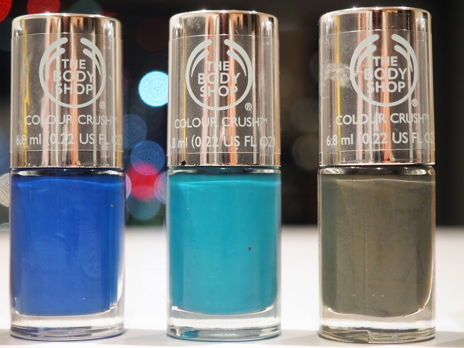 The Body Shop Colour Crush nail polishes - Winter Trend