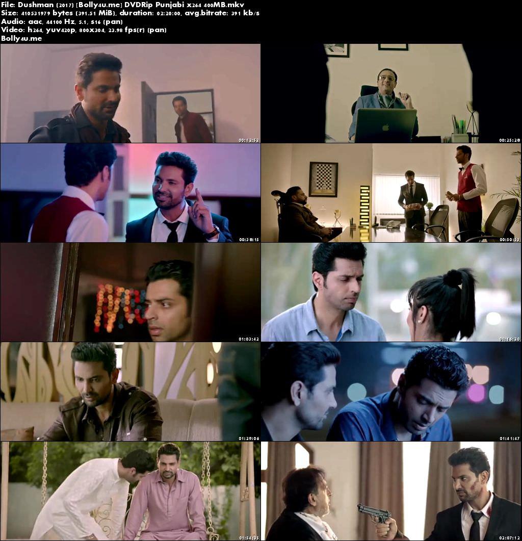 Dushman 2017 DVDRip 400MB Full Punjabi Movie Download x264