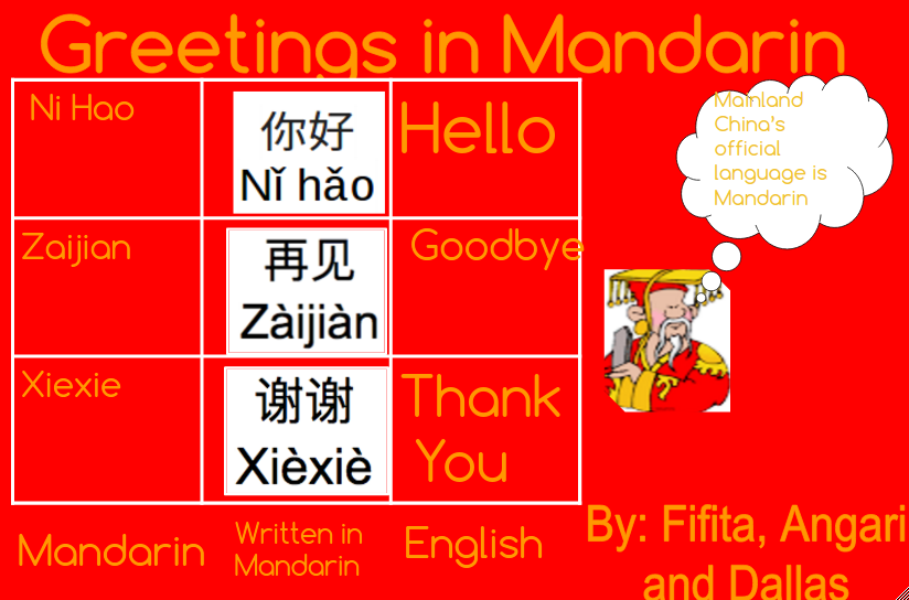 Angari panmure bridge school greetings in mandarin greetings in mandarin m4hsunfo