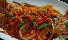 Resep praktis (mudah) ikan kakap saus tiram spesial (istimewa) enak, sedap, gurih, nikmat lezat