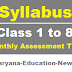 Download 1st to 8th Monthly Syllabus 2021 for Haryana Govt. Schools
