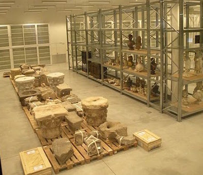 Storage room at the Louvre