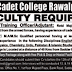 Cadet College Rawalpindi 2018 Jobs