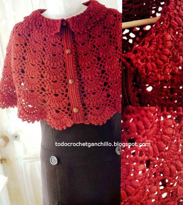 molde capa crochet