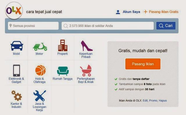 Tampilan Desain Baru Situs Jual Beli OLX.co.id