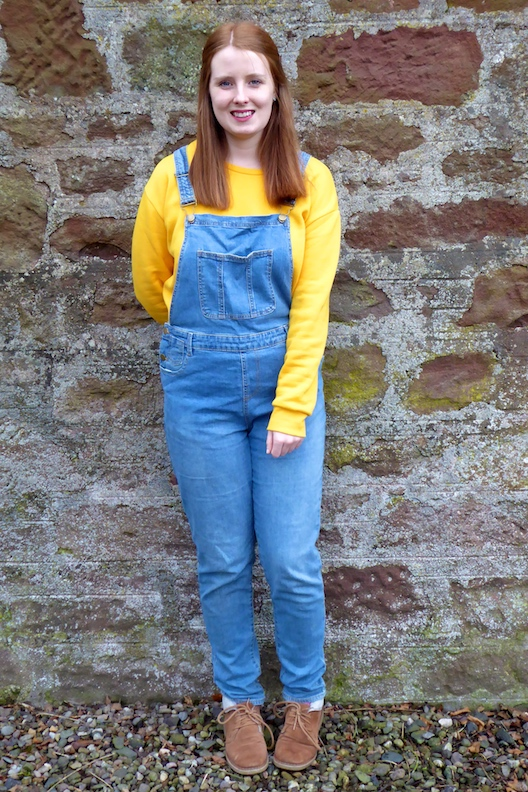 primark yellow sweatshirt spring outfit