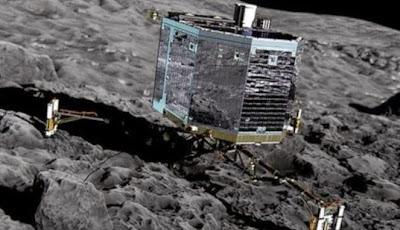 Robot Philae membuat sejarah dengan mendarat di komet, Rabu 12 November 2014